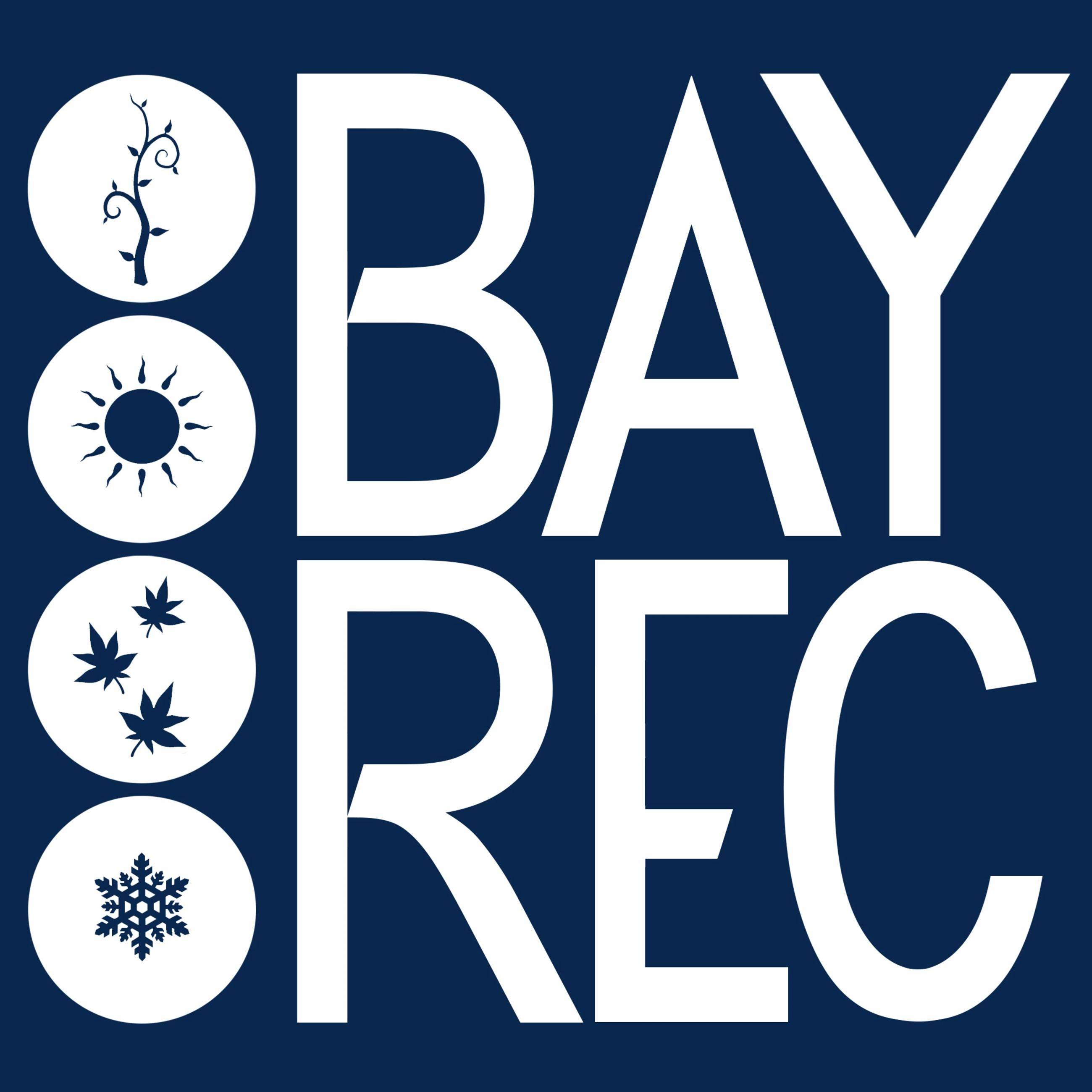 Bay Rec Navy Background Logo