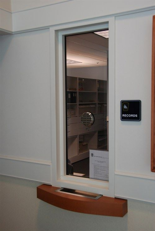 Records Window at Police Department