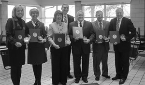 The Westshore Council Mayors receive the Taxpayer Hero award from OH Auditor of State